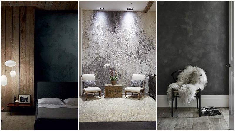 Декоративная штукатурка - 15 лучших примеров в дизайне интерьера.