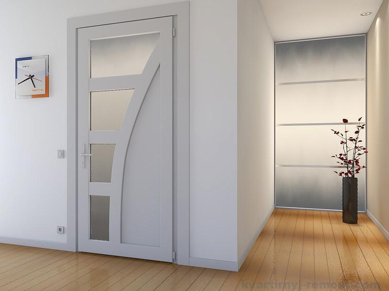 дверь пластиковая со стеклом входная