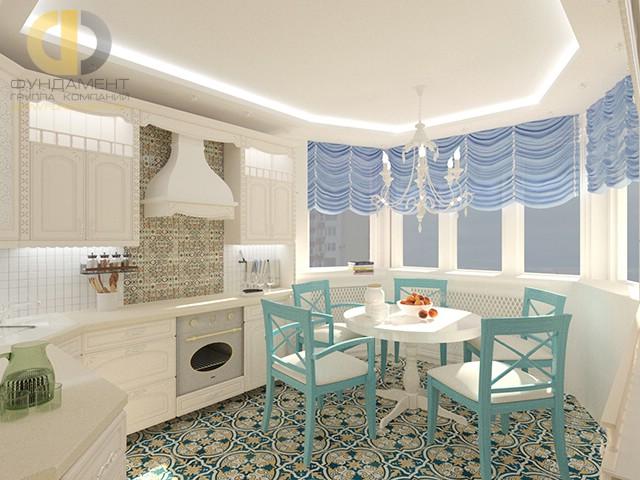 Дизайн эркера на кухне и в гостиной