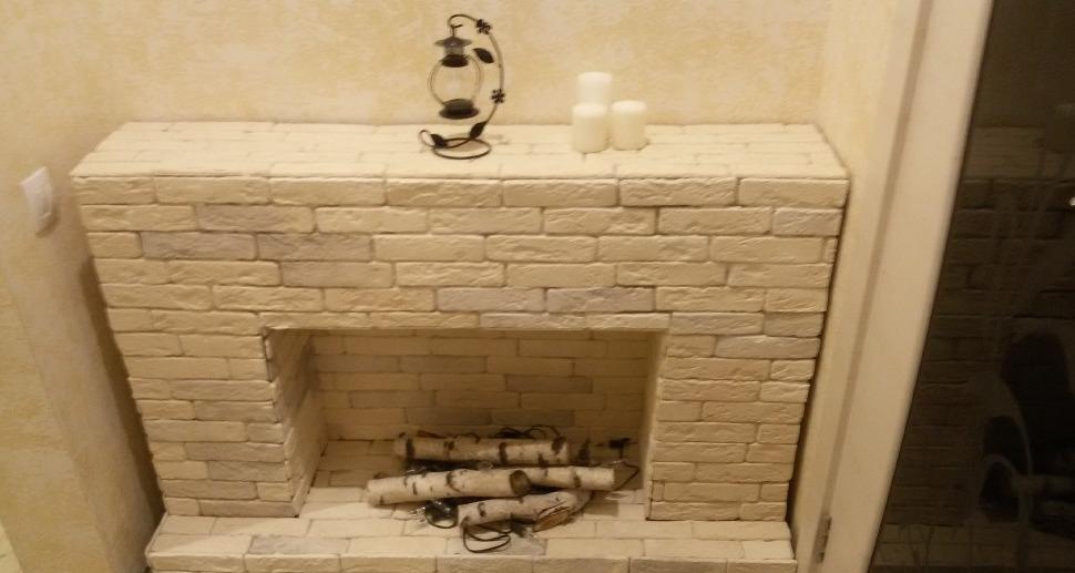 имитация камина своими руками в квартире
