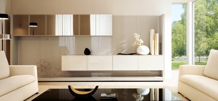глянцевая мебель для гостиной в стиле модерн