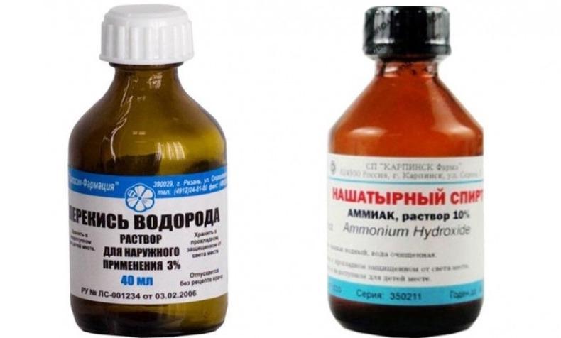 Удаление волос перекисью водорода и нашатырным спиртом