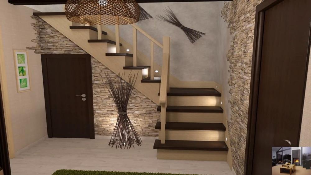 оформление лестницы на второй этаж
