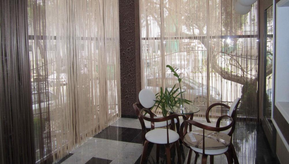Нитяные шторы (75 фото): нитевые занавески в интерьере кухни ...
