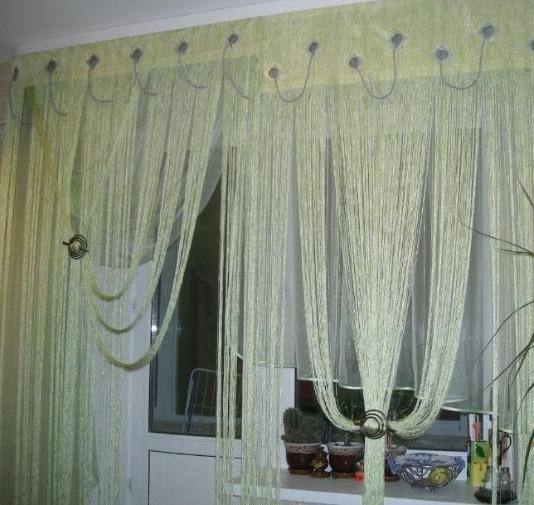 Нитяные шторы своими руками: мастер класс, фото