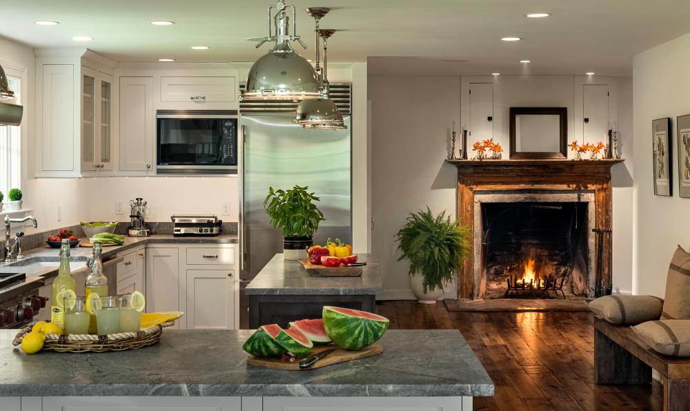 объединение кухни и гостиной (главный ключ)