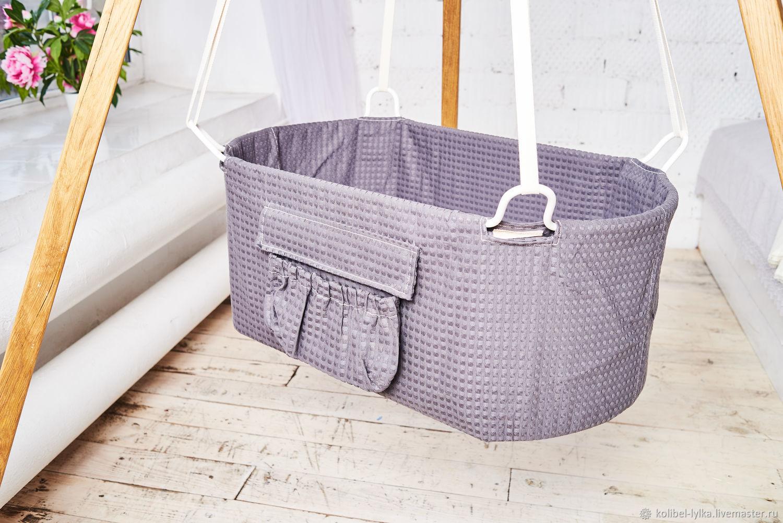 плетеная колыбель для новорожденных