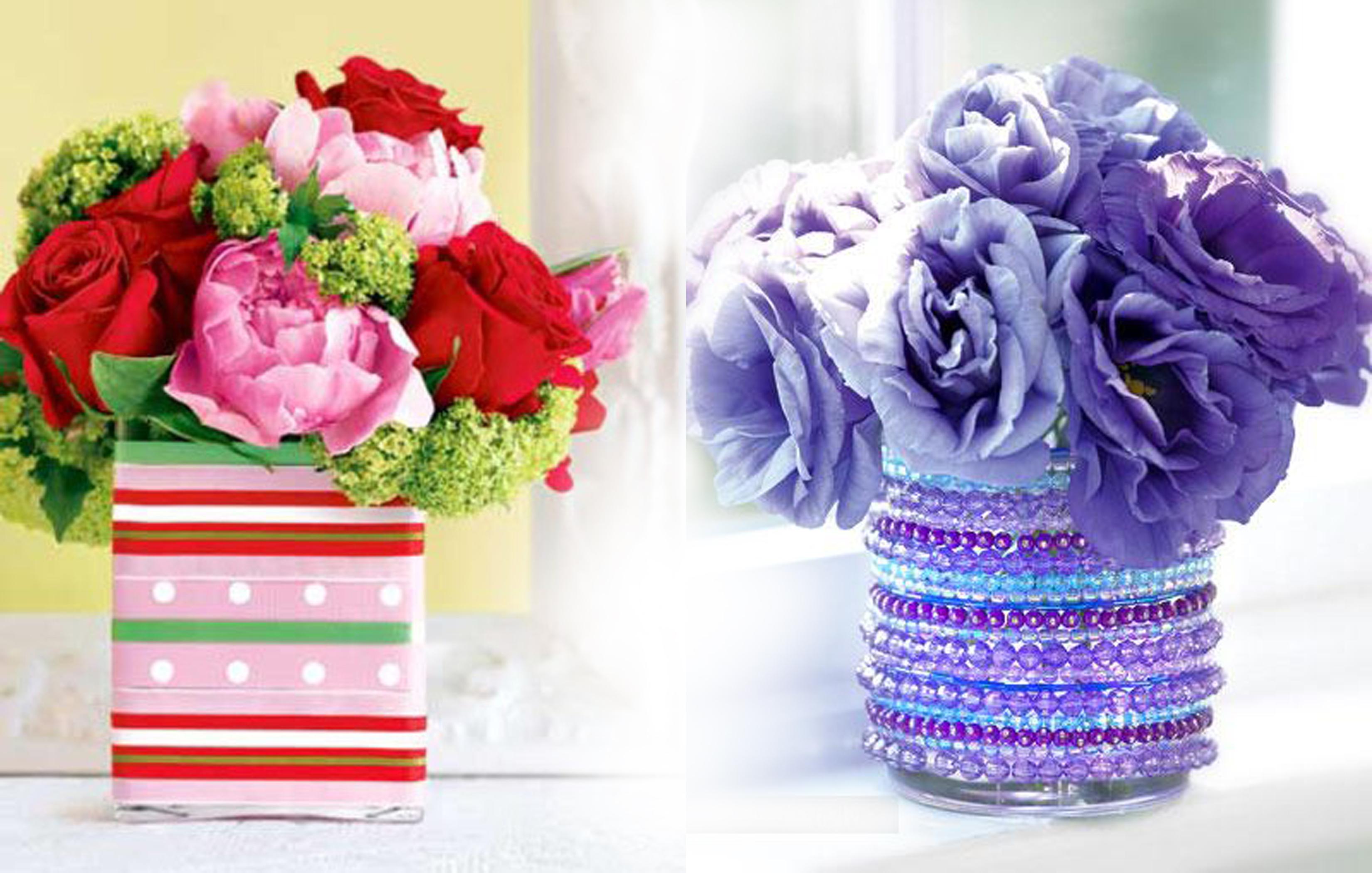 декорирование вазы своими руками