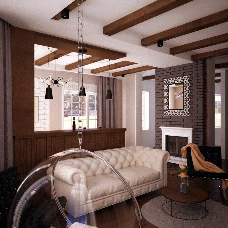 Дизайн интерьера частного дома в стиле Эклектика | Friauf - дизайн ...