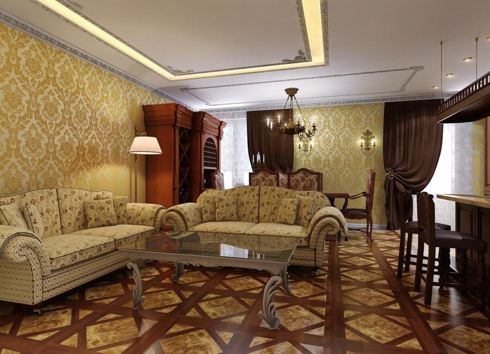 маленькая гостиная в классическом стиле