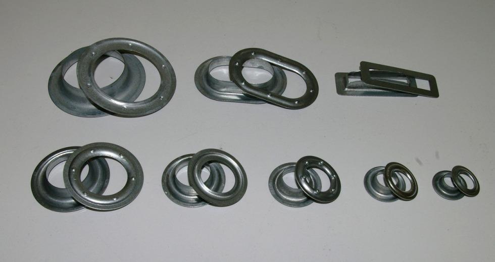 Люверсы различных диаметров для тентового