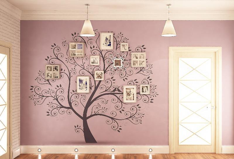 Декорирование пустых стен с помощью фотографий