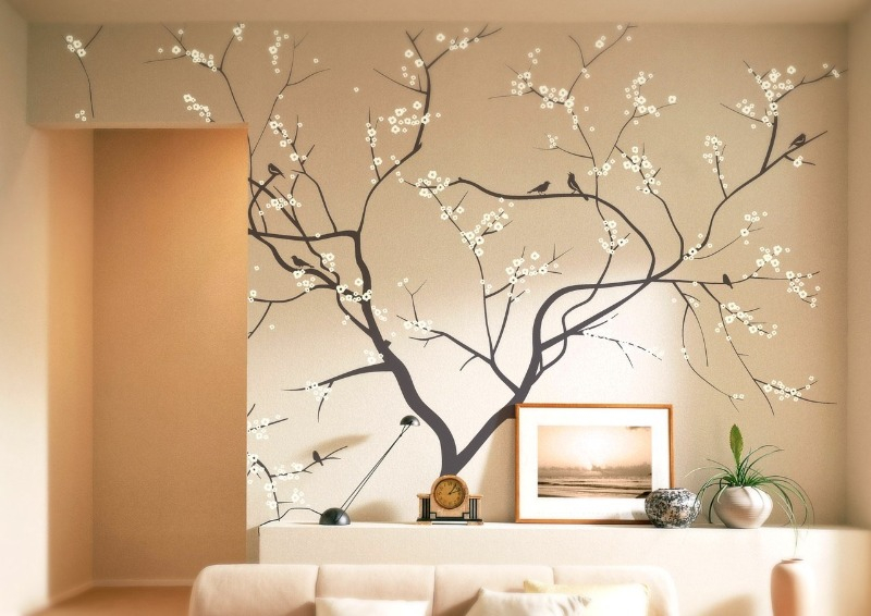 Несложный рисунок для пустой стены в комнате