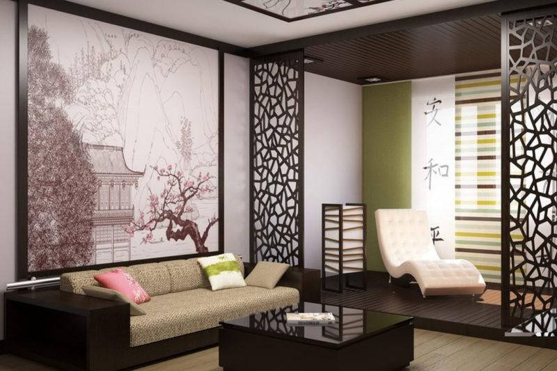 обои в японском стиле для стен