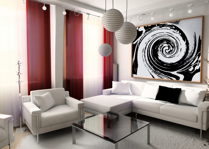 Черно-белые картины в интерьере
