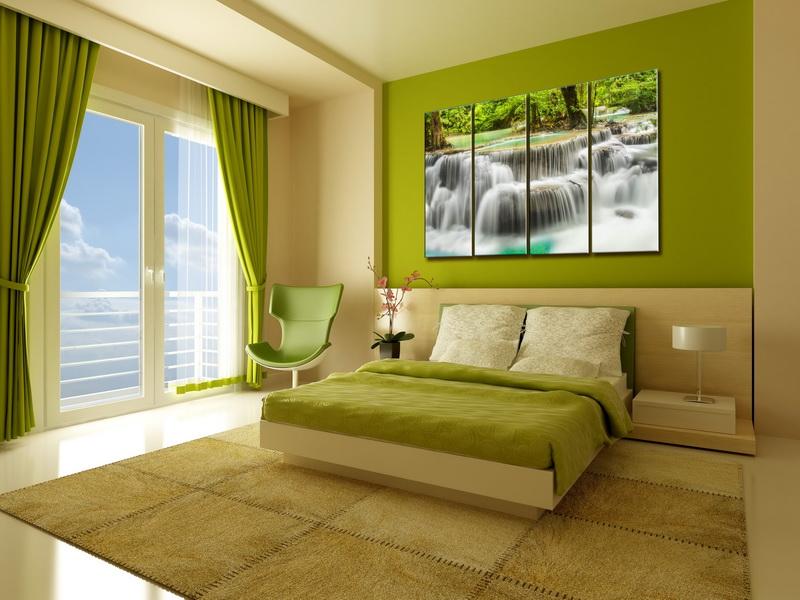 Как выбрать и где повесить модульные картины в спальне - фото и советы