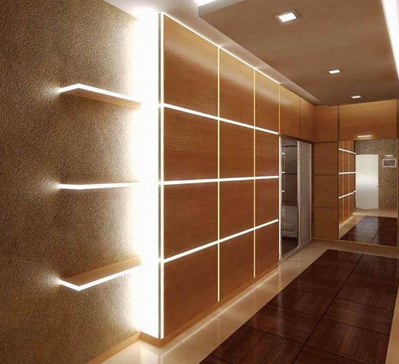 подсветка стен в коридоре