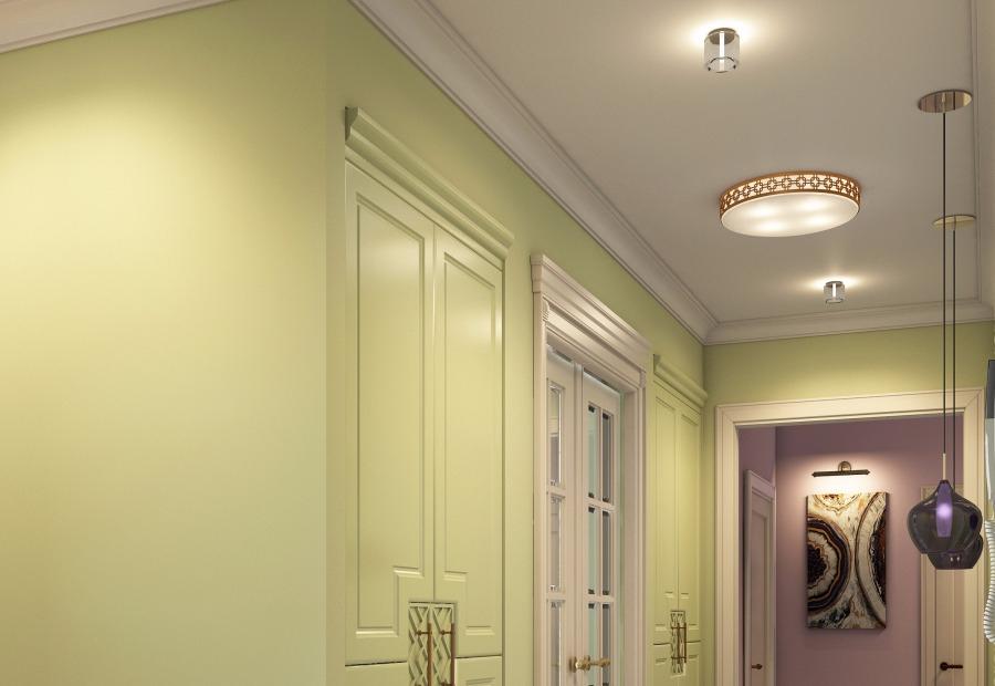 освещение в коридоре квартиры