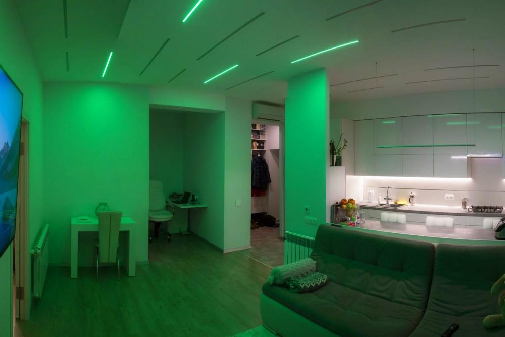 Arlight - Светодиодное освещение в квартире - освещение в гостиной .
