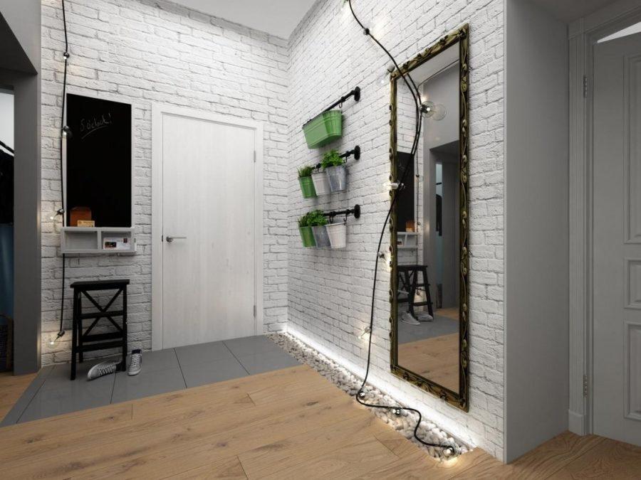 коридор в стиле лофт