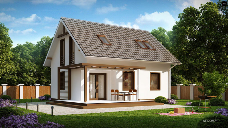 проекты домов с мансардой (главный ключ)