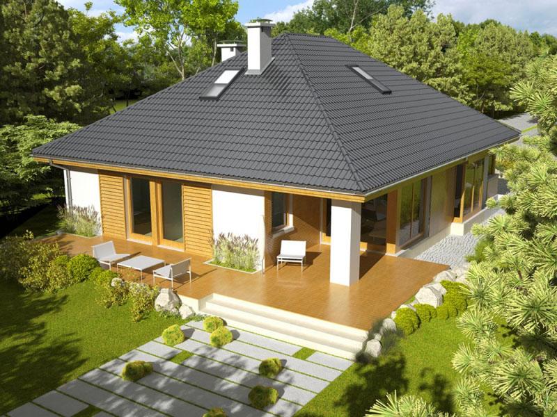 крыши домов с мансардой проекты