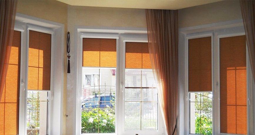 Кассетные шторы на пластиковое окно