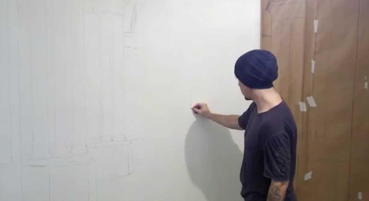 Роспись стен 67 фото стильная черно-белая роспись квартир современная художественная роспись акрилом в интерьере гостиной и других комнат другие виды росписи