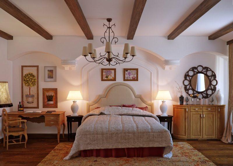 Спальня в стиле кантри - 110 фото оригинальных дизайнерских идей