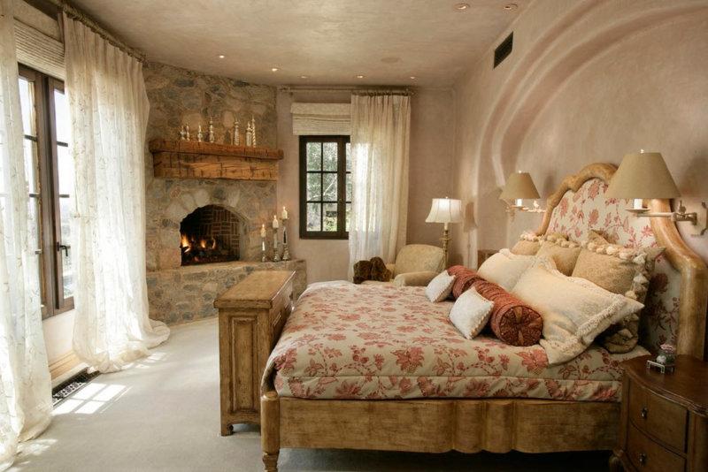 Спальня в стиле Кантри (73 фото): идеи дизайна интерьера, как ...