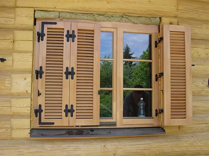 ставни на окна деревянные (главный ключ)