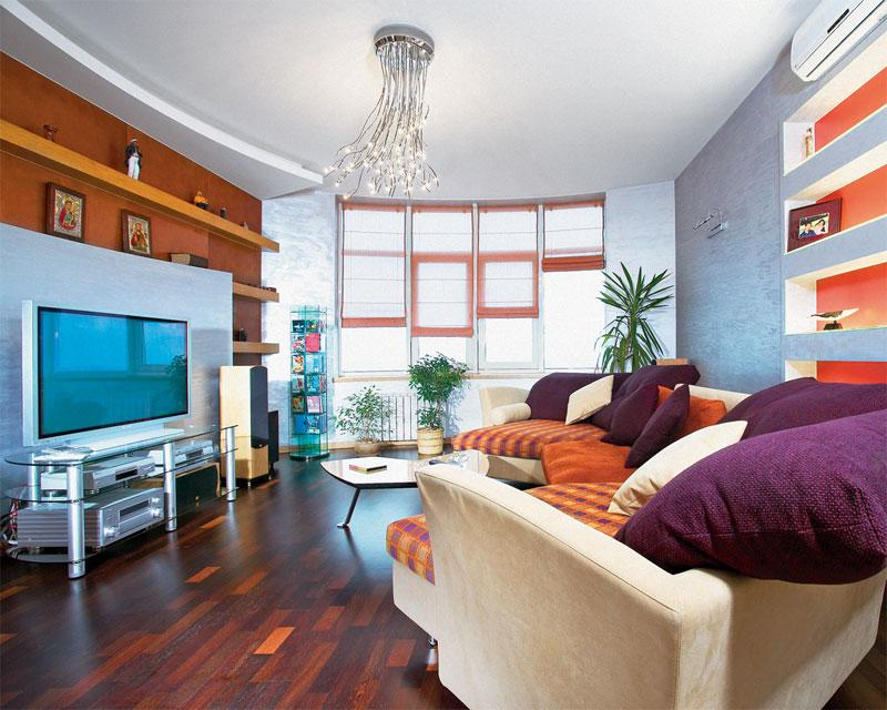 дизайн квартиры в стиле фьюжн