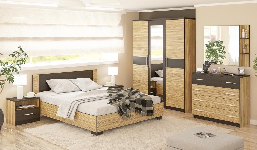 Спальня Вероника (Зебрано) | Мебель со склада по оптовым ценам