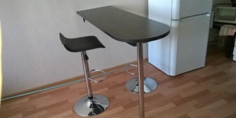 Барная стойка для кухни варианты размеры чертежи фото