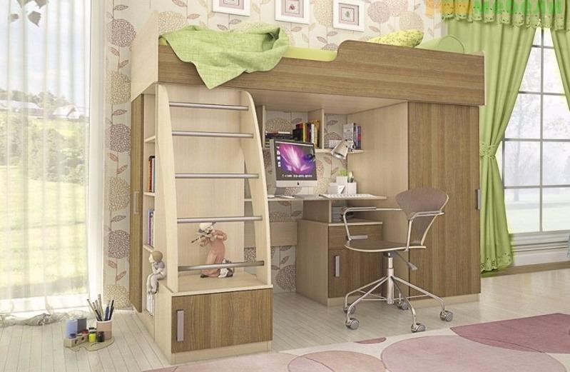 Детская мебель Мика дуб кремона/ясень