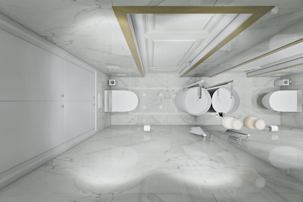2018 ТУАЛЕТЫ фото маленький туалет в белом цвете с цилиндрической ...