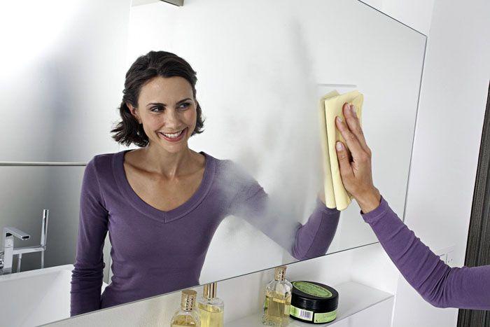 как помыть зеркало без разводов (главный ключ)