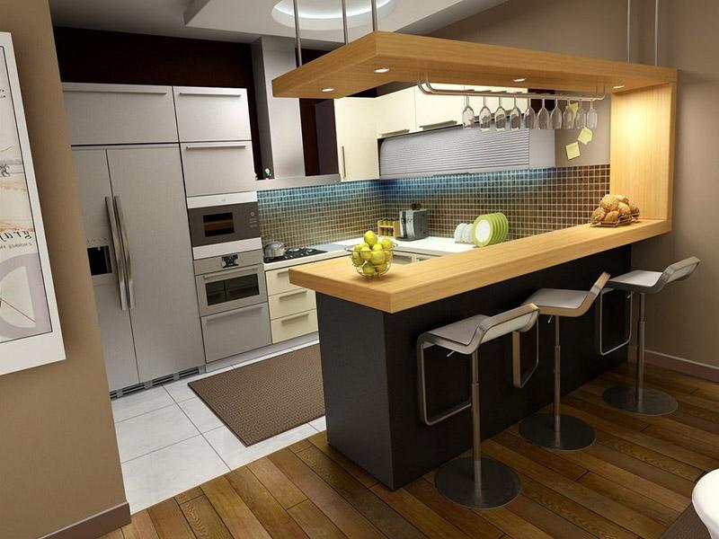 Оптимальная высота барной стойки на кухне от пола