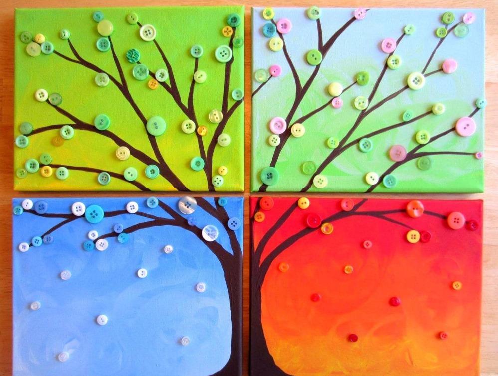 Картины для интерьера своими руками из подручных материалов: фото ...