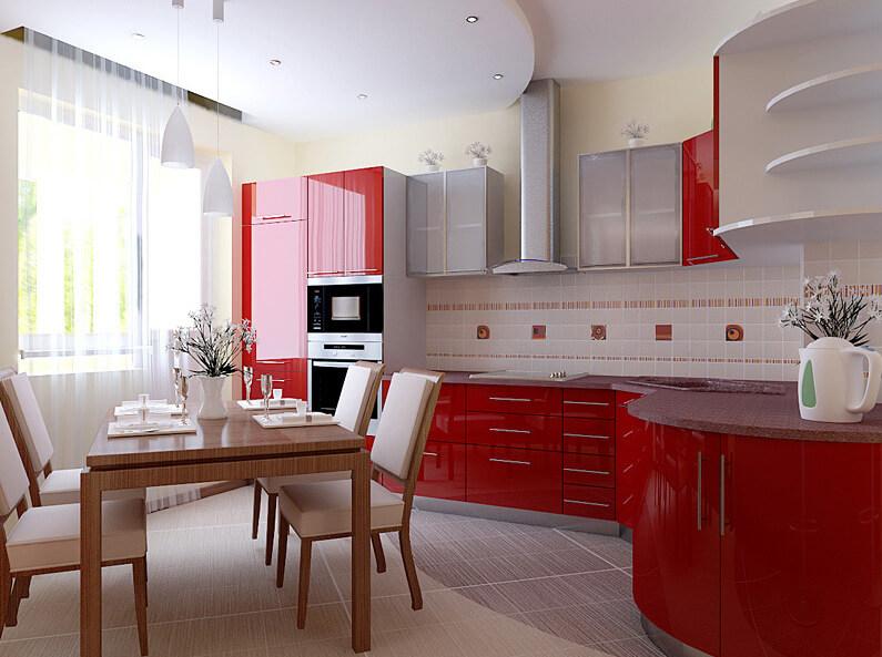 Натяжные потолки на кухне. Фотографии возможных вариантов исполнения ...