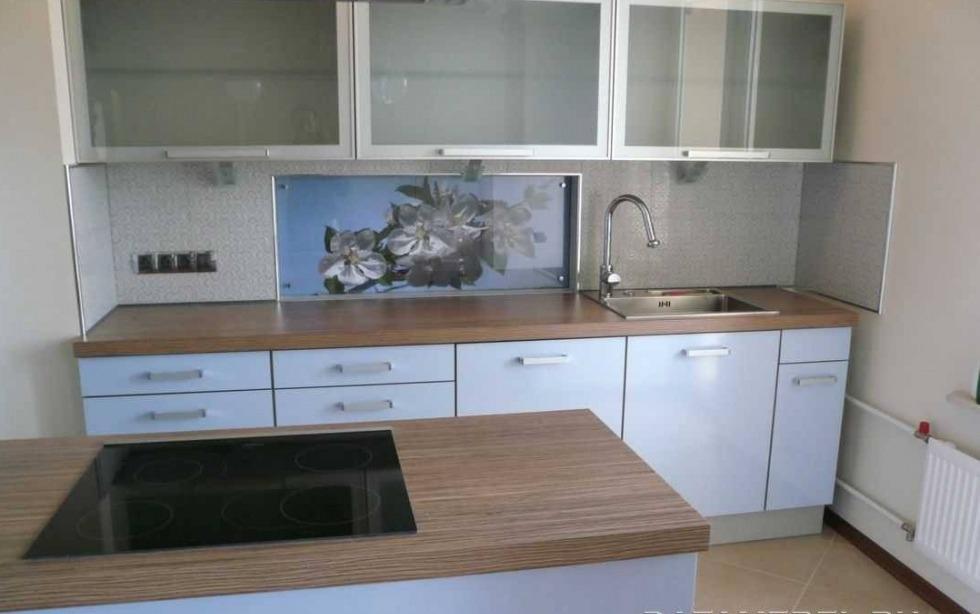 Серо голубая кухня фото смотреть