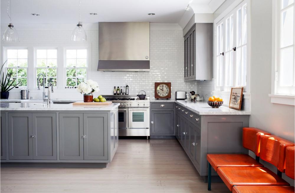 100 лучших фото идей: кухня в серых тонах, серый интерьер