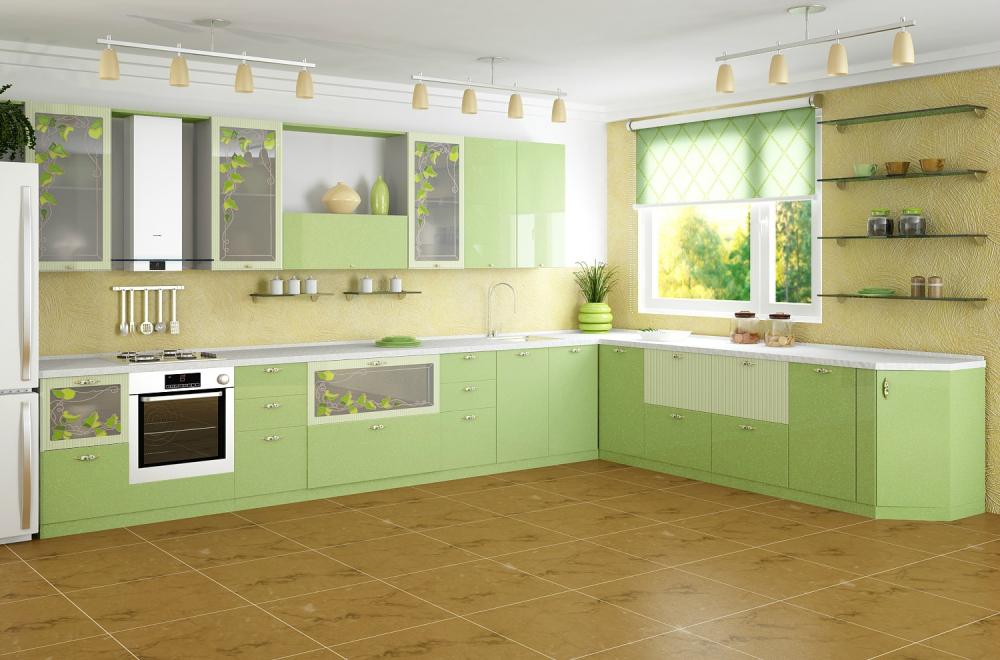 Салатовая кухня - яркий позитивный интерьер для активных людей ...