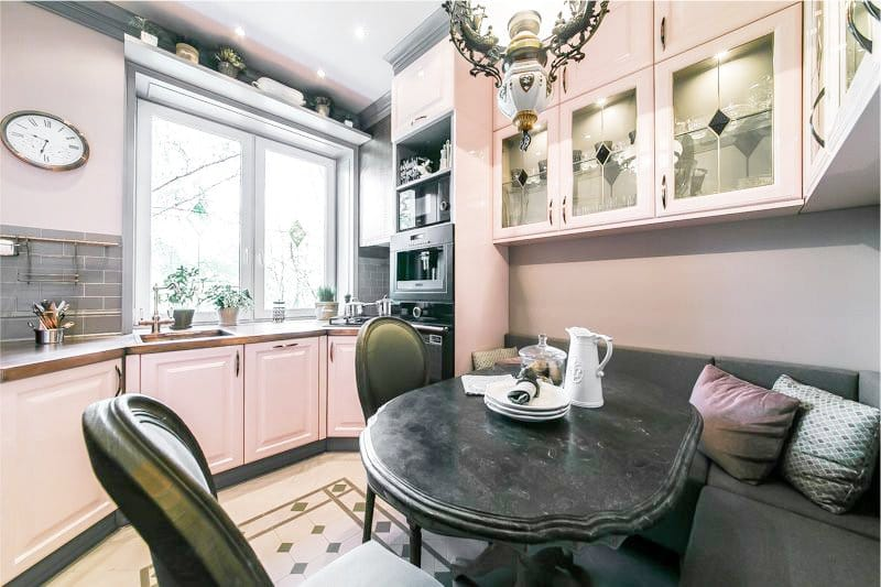 Розовая кухня в интерьере: 5 подсказок и 80 фото