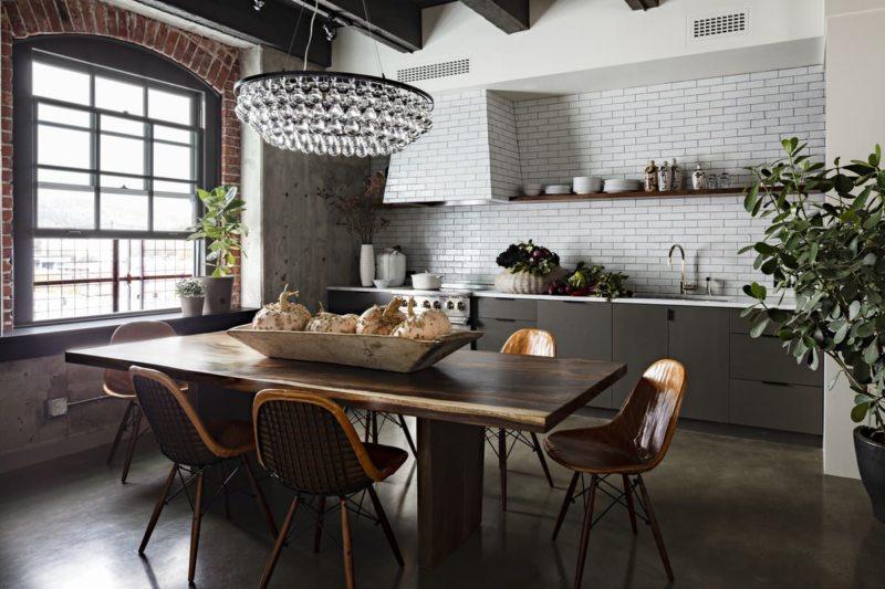 Кухня в стиле лофт - 105 фото необычного оформления дизайна