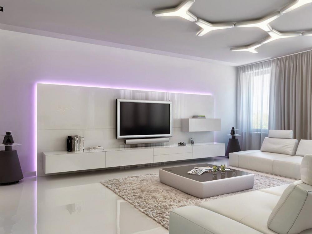 интерьер гостиной в современном стиле (главный ключ)