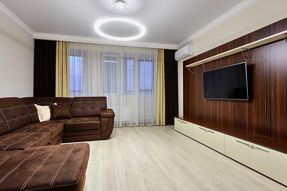 интерьер гостиной в светлых тонах (главный ключ)