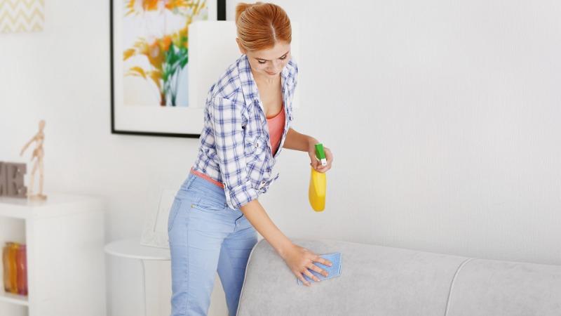 очистить кожаный диван от шариковой ручки