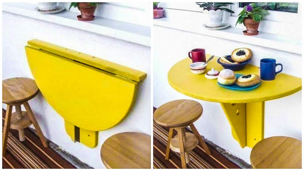 Откидной столик на балкон (49 фото): стол раскладной и складной, как ...