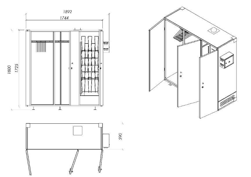 сушильный шкаф для одежды (главный ключ)